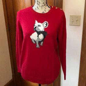 Charter club French bulldog sweater